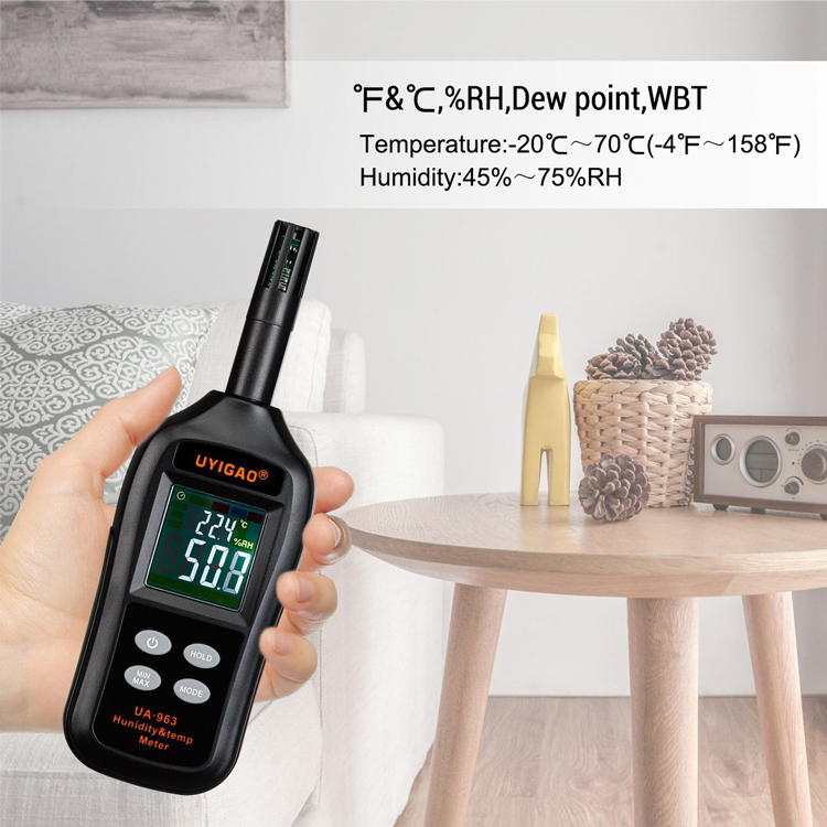 Digital Psychrometer Thermo-Hygrometer Moisture Meter Temperature and Humidity Meter