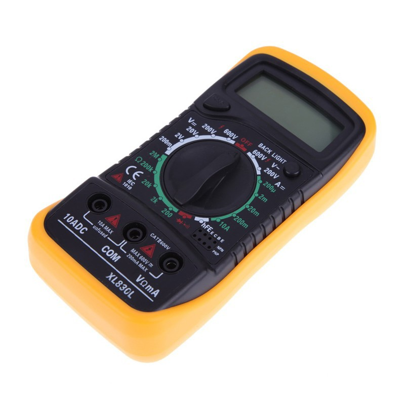 Backlight Digital LCD Multimeter Voltmeter Ammeter AC DC OHM Volt Tester Test Current  XL830L