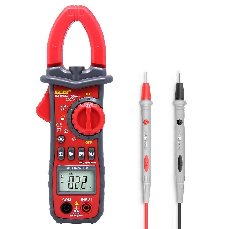 digital clamp meter with true rms ncv multitester