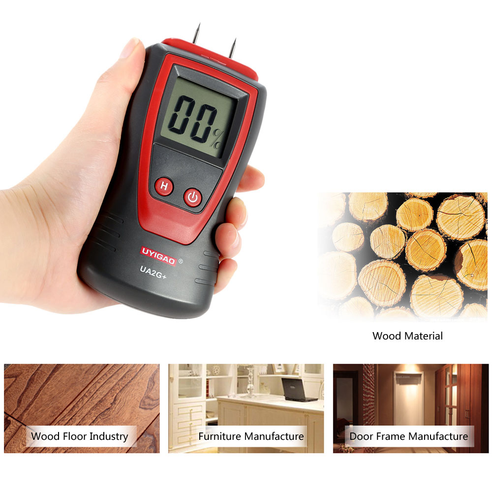 Professional Handheld Digital Wood Moisture Meter Mini LCD Wood Lumber Moisture Tester Humidity Meter Detector with 2 Pin Probe